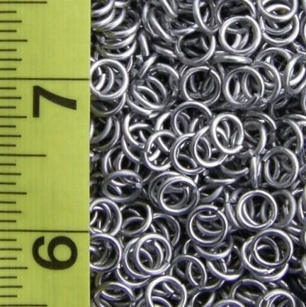 18 Gauge 3/16 ID Aluminum Jump Rings