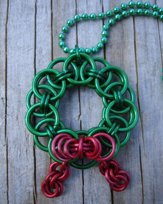 Chainmaille Wreath Pendant